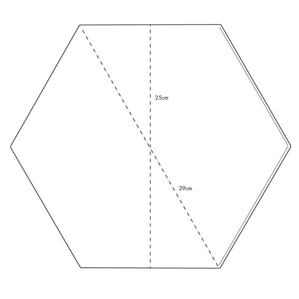 Hexágono cerámico a medida HC29
