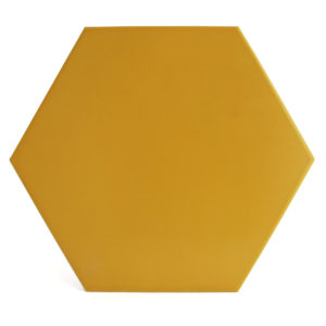 Hexágono cerámico amarillo HC29 001