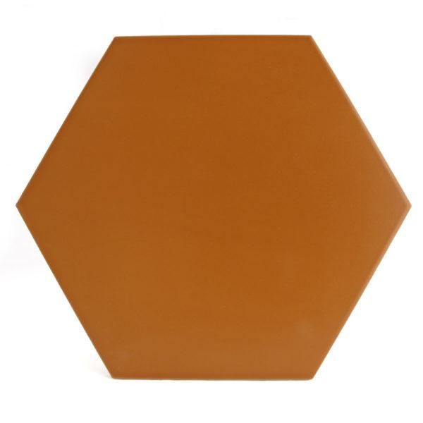 hexagono ceramico naranja ceramica a mano alzada