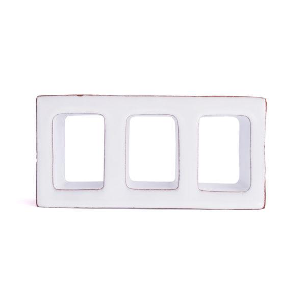 Celosía cerámica blanca CLS 009