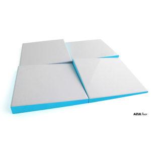 relieve ceramico scales azul ceramica a mano alzada