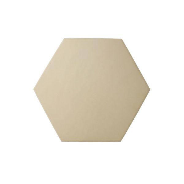 Hexágono cerámico beige mate HC17 004