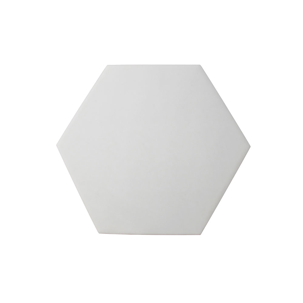 Hexágono cerámico blanco mate HC17 001