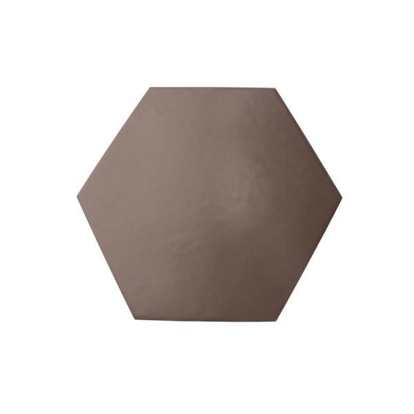 Hexágono cerámico marrón mate HC17 005