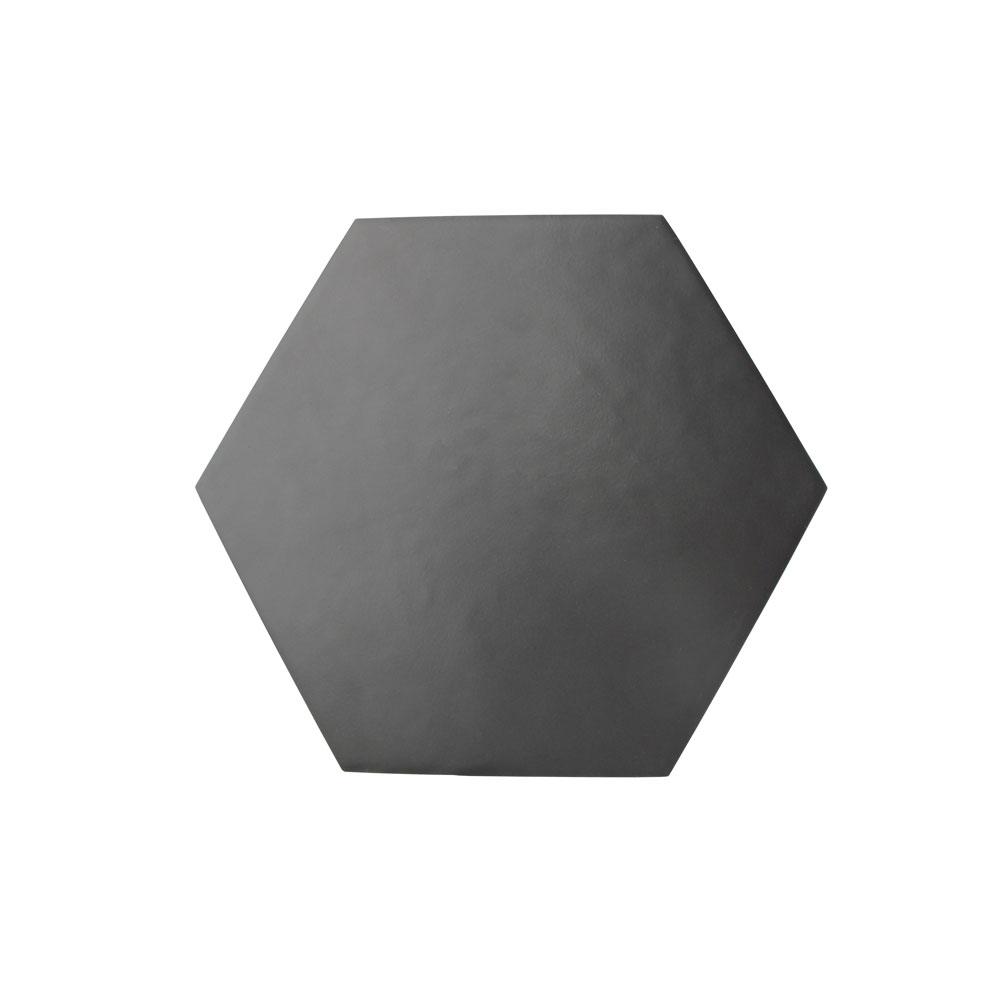 Hexágono cerámico negro mate HC17 003