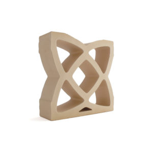 Celosía cerámica natural arena CLS 012