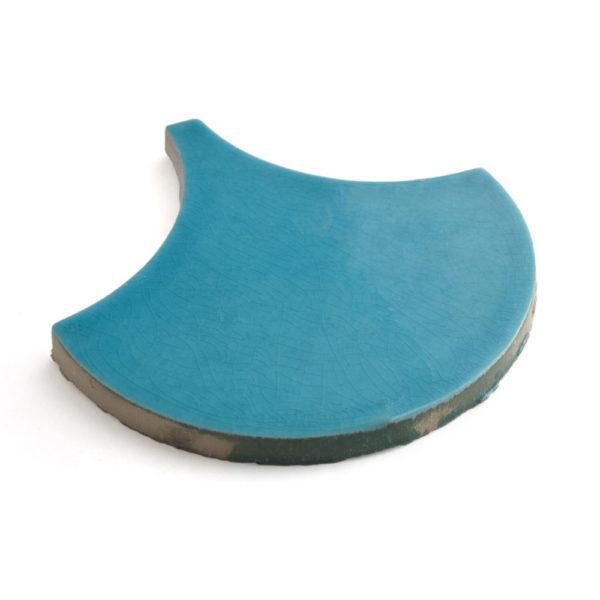 escama ceramica azul turquesa ceramica a mano alzada