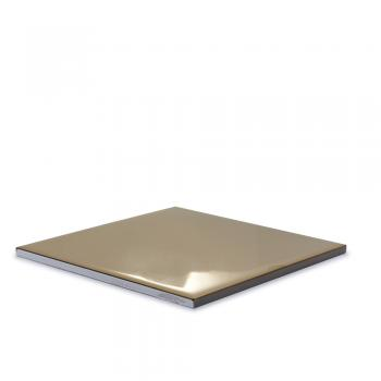 Metalizado cerámico ALEA dorado brillo liso MCA 010