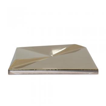 Metalizado cerámico ALEA dorado brillo relieve B MCA 012