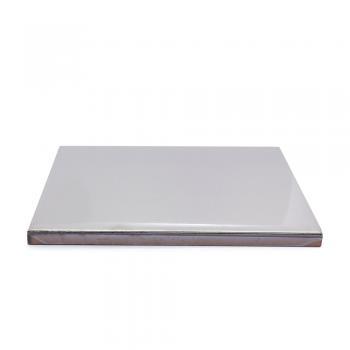 Metalizado cerámico ALEA plateado brillo liso MCA 013