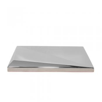 Metalizado cerámico ALEA plateado brillo relieve A MCA 014