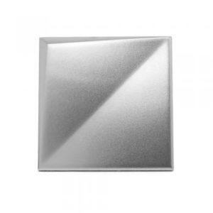 Metalizado cerámico ALEA plateado mate relieve A MCA 005