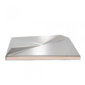Metalizado cerámico ALEA plateado mate relieve B MCA 006