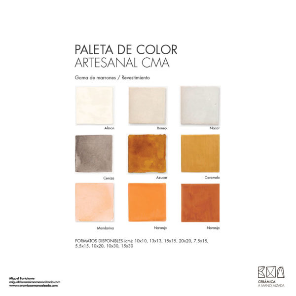 Ceramica-artesanal-paleta-de-color-Artesanal-marrón-CMA-7.5x15-ceramica-a-mano-alzada