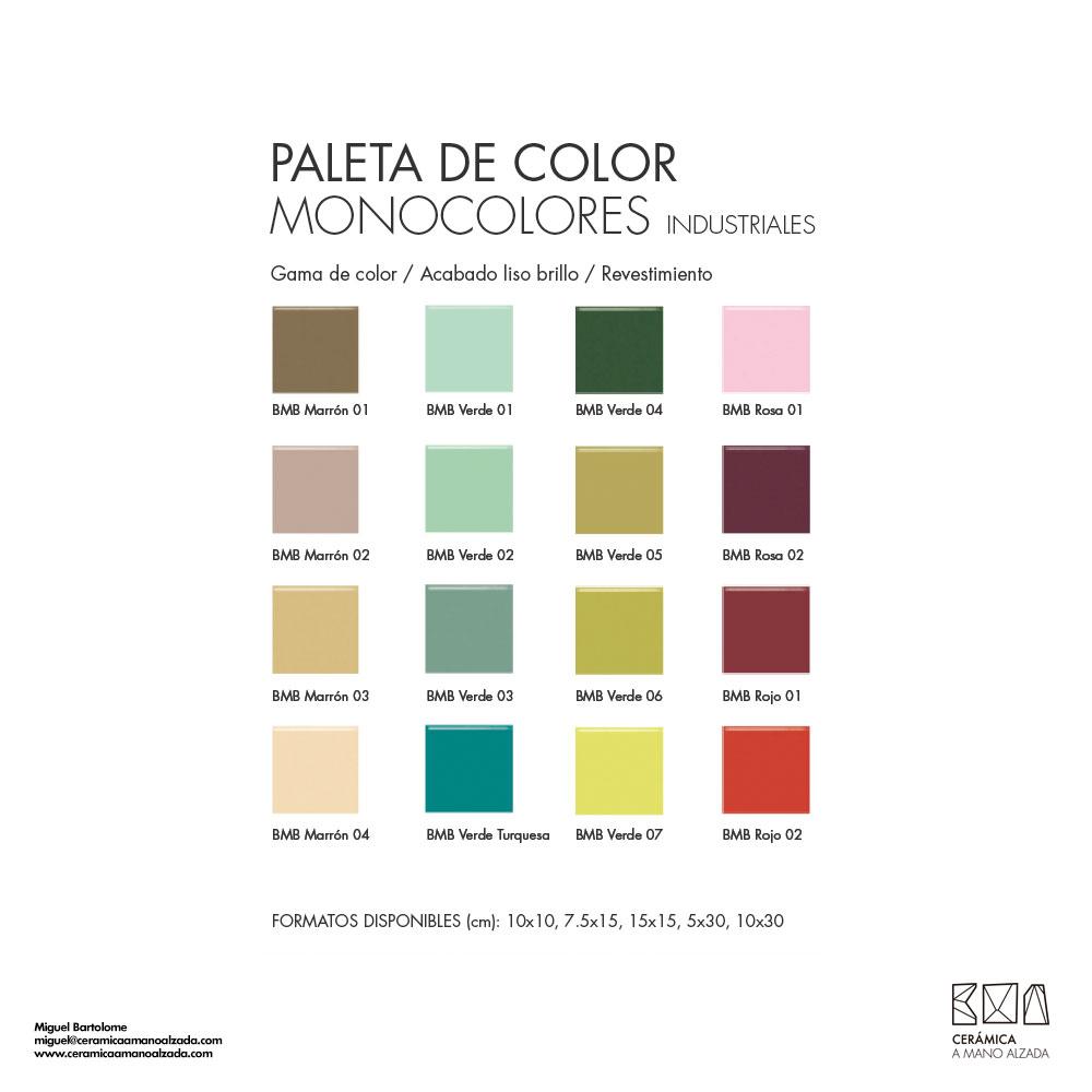 B sico cer mico a medida 10x10 cm brillo paleta de color - Colores de ceramica ...