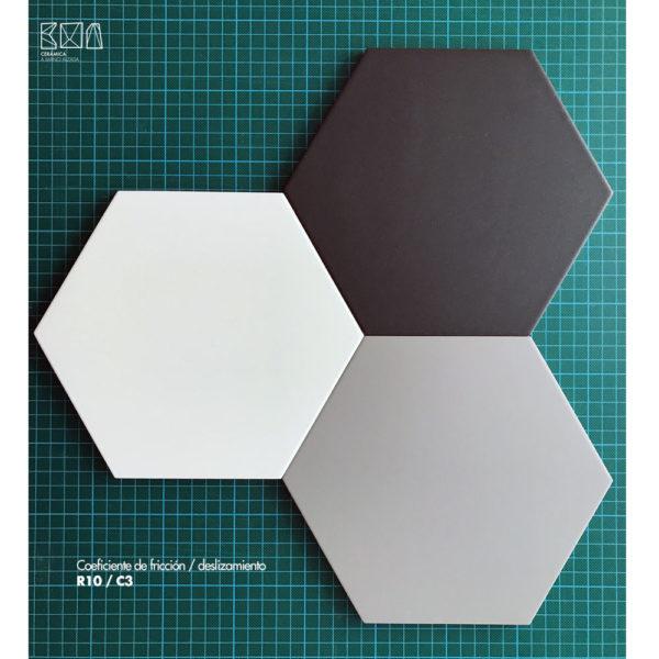 Hexagono-ceramico-detalle-acabado-20x23-HC20-R10-C3-ceramica-a-mano-alzada