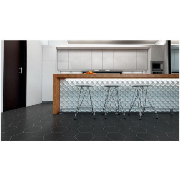 Hexagono-ceramico-gris-oscuro-mate-ambiente-20x23-HC20-R10-C3-ceramica-a-mano-alzada