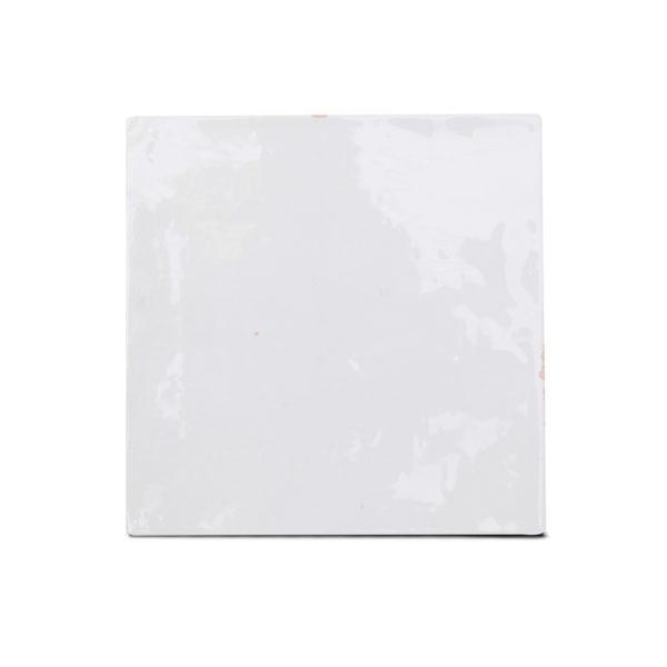 Zellige ceramico blanco brillo frontal ceramica a mano alzada