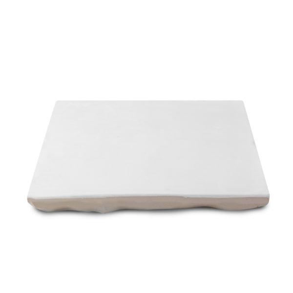 Zellige ceramico blanco mate detalle ceramica a mano alzada