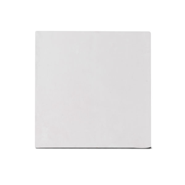 Zellige ceramico blanco mate frontal ceramica a mano alzada