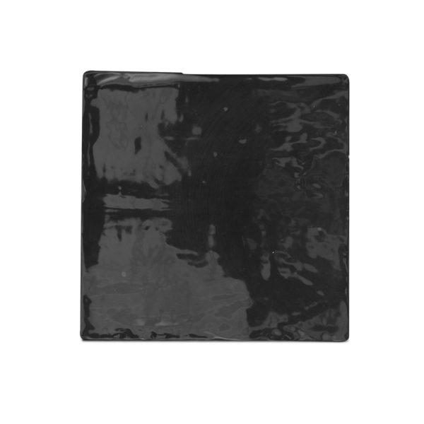Zellige ceramico negro frontal ceramica a mano alzada