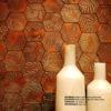 relieve vidrio decorativo UBUD marron interiorismo Erico Navazo Marbella design ceramica a Mano Alzada