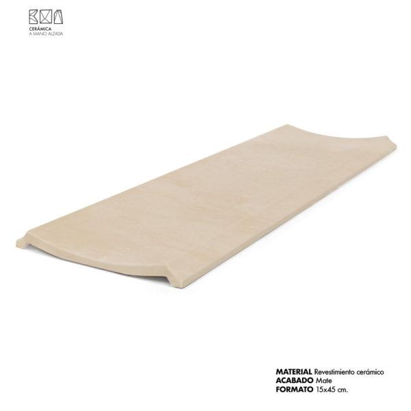escocia cerámica grande 15x45 cm arena mate