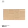 revestimiento cerámico relieve suave lineas color arena vista frontal horizontal ceramica a mano alzada