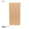 revestimiento cerámico relieve suave lineas color arena vista frontal vertical ceramica a mano alzada