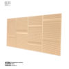 revestimiento cerámico relieve suave lineas color arena vista perspectiva horizontal ceramica a mano alzada