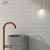 relieve ceramico lineas suaves blanco mate revestimiento ceramica a mano alzada
