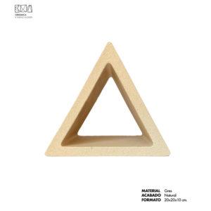 Celosia-ceramica-gres-natural-triangulo-CLG-001-frontal-ceramica-a-mano-alzada